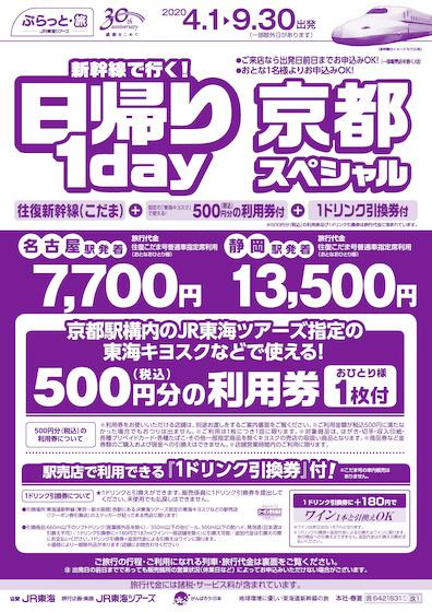 新幹線で行く!日帰り1day 京都スペシャル