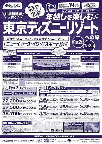 特別営業 年越しを楽しむ 東京ディズニーリゾート®への旅 0泊2日・1泊2日